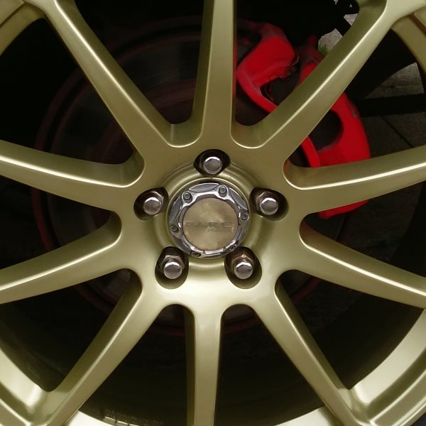 Alloy wheels recoloured